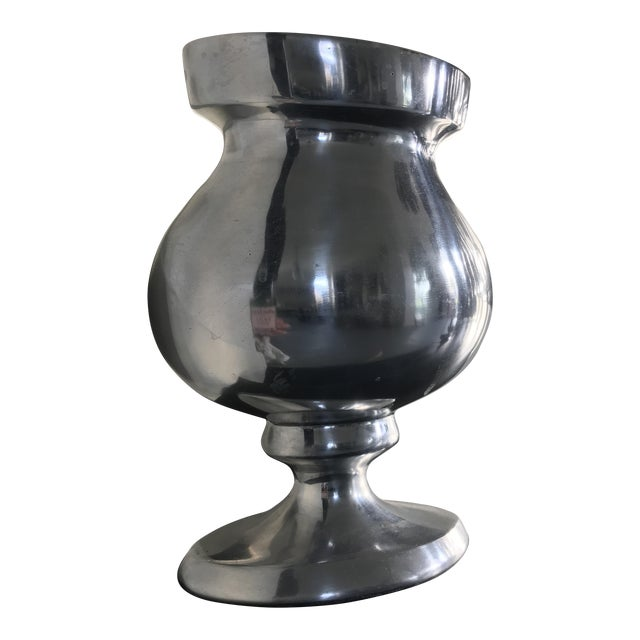 Solid Pewter Vase Chairish