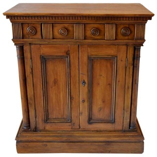 Jacobean Carved Walnut Cabinet For Sale