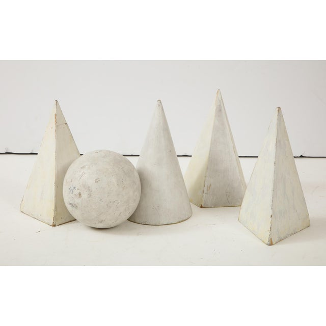 White Painted Wooden Geometric Molds - Set of 5 For Sale - Image 9 of 10