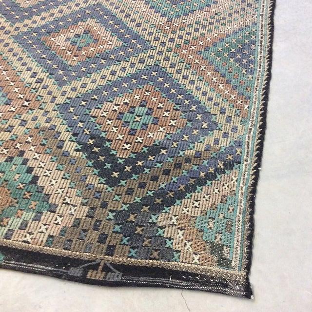 "Textile 1960's Turkish Kilim - 6'x11'6"" For Sale - Image 7 of 13"