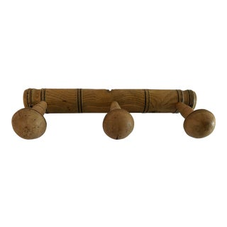 Antique English Wooden Hat Rack For Sale