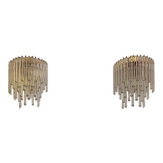 1970s Mid-Century Murano Glass Sconces - a Pair For Sale