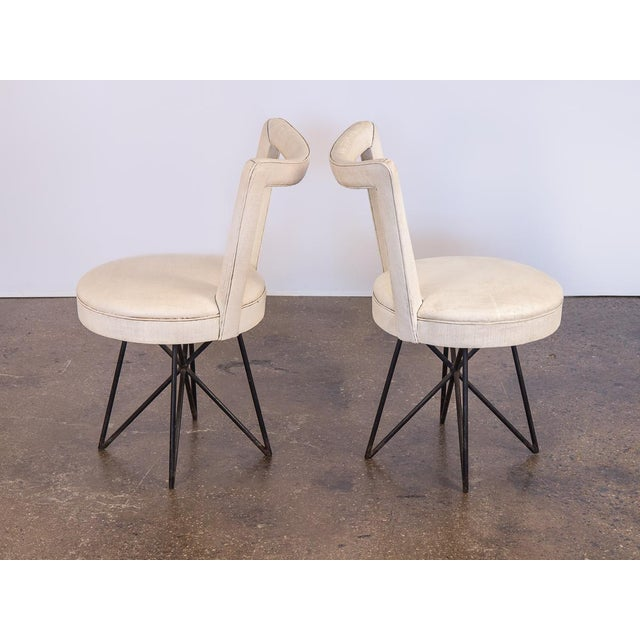 Art Deco 1950s Occasional Side Chairs - A Pair For Sale - Image 3 of 10