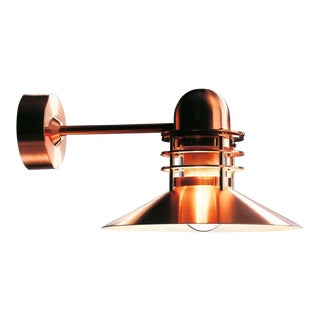 Louis Poulsen 'Nyhavn' Copper Outdoor Wall Sconce