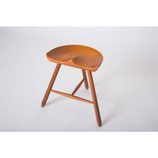 Danish Modern Danish Modern Milking Stool For Sale - Image 3 of 10