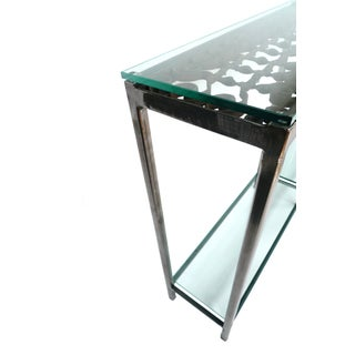Custom-Made Iron & Glass Console Table Preview