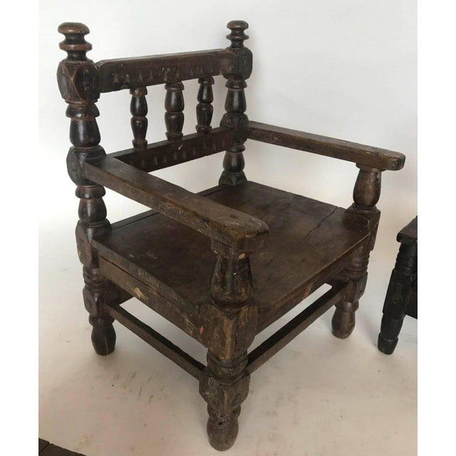 Early 20th Century Antique Guatemalan Children's Chairs For Sale - Image 5  ... - Incredible Antique Guatemalan Children's Chairs DECASO