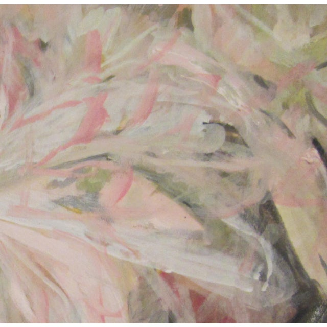 Abstract 'Peonies' Contemporary Painting For Sale - Image 3 of 4