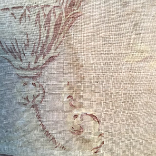 Linen 18th Century French Textile Printed Linen Panels - a Pair For Sale - Image 7 of 13