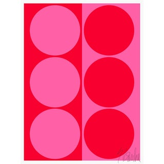 """Dynamic Pair Bright Pink and Red Fine Art Print 28.5"""" X 40"""" For Sale"""