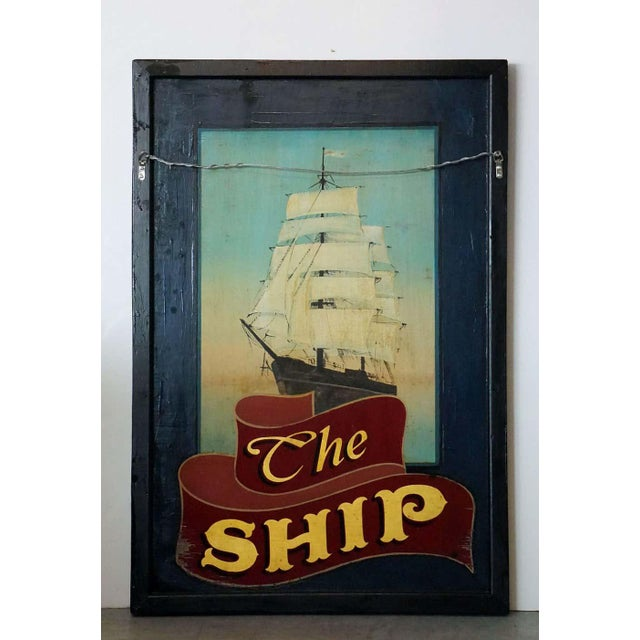 """Vintage English Pub Sign, """"The Ship"""" For Sale - Image 11 of 13"""