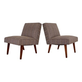 Mid-Century Modern Slipper Chairs - A Pair For Sale