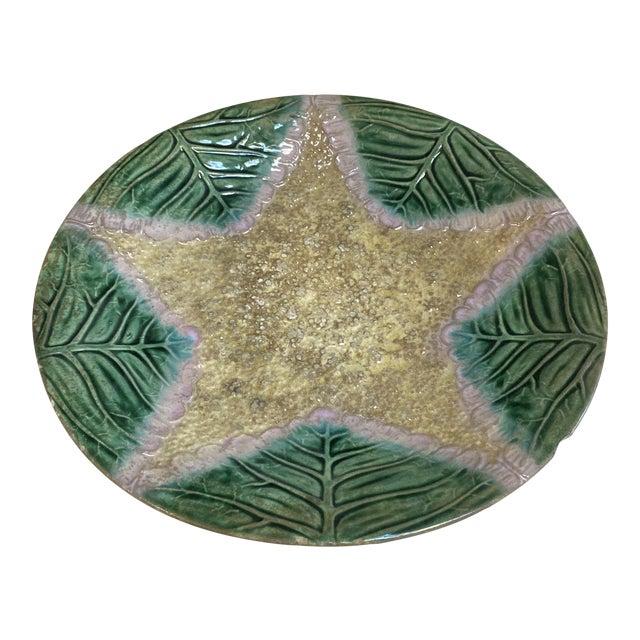 Majolica Sea Star Plate For Sale
