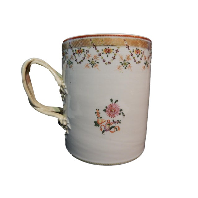 18th Century 18th C Chinese ExportPorcelain Tankard Mug For Sale - Image 5 of 7