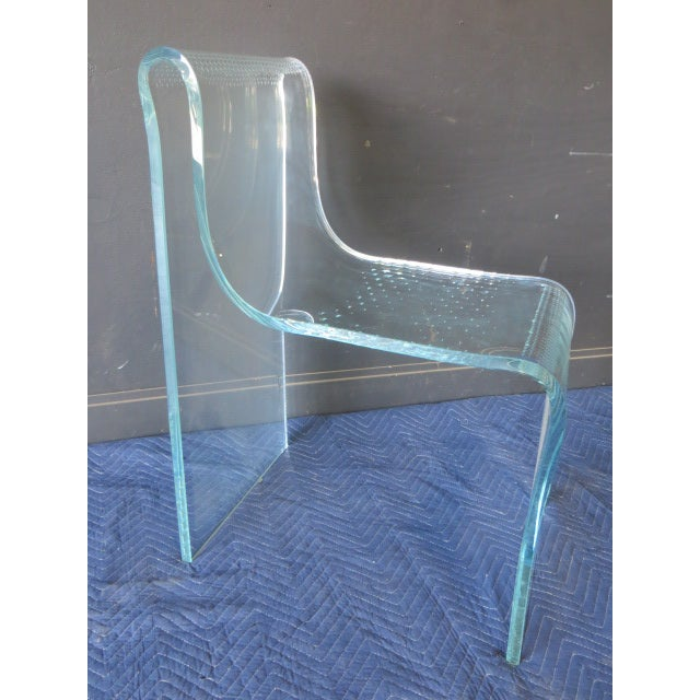 1980s Vintage Fiam Glass Ghost Chair For Sale - Image 10 of 12
