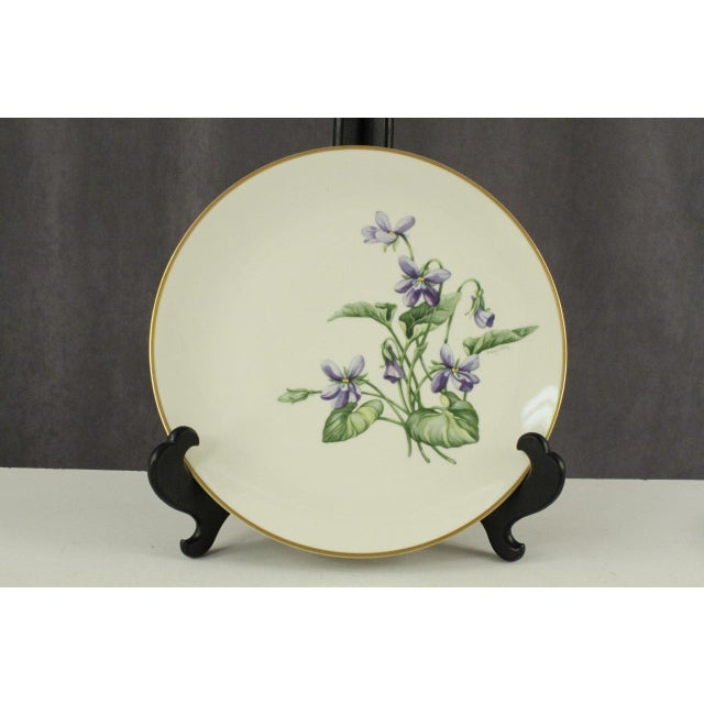 Vintage Franciscan China Olympic with Purple Violet Flowers - Set of 12 - Image 4 of 7