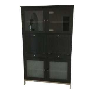 Room & Board Black Wooden Cabinet For Sale