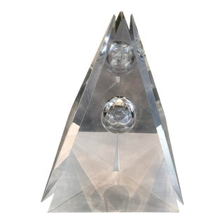 """Eye of the Pyramid"" Massive Four-Part Lucite Sculpture by Bijan Bahar For Sale"