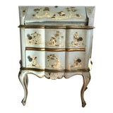 Image of 18th/19th Century Venetian Rococo Decoupage & Painted Chinoiserie Writing Desk For Sale