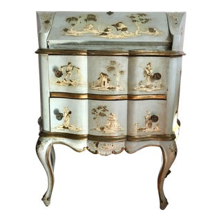18th/19th Century Venetian Rococo Decoupage & Painted Chinoiserie Writing Desk For Sale