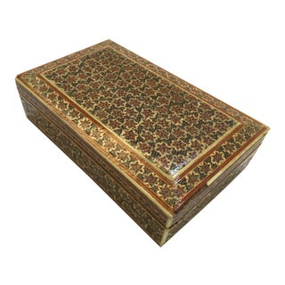 Persian Micro Mosaic Box For Sale