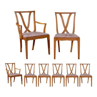 """Beautiful Set of 8 """" X """" Back Dining Chairs by Tomlinson - Choice of Finish For Sale"""