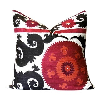 Srish Suzani Square Pillow For Sale
