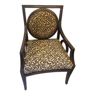 Modern Transitional Animal Print Side Chair For Sale