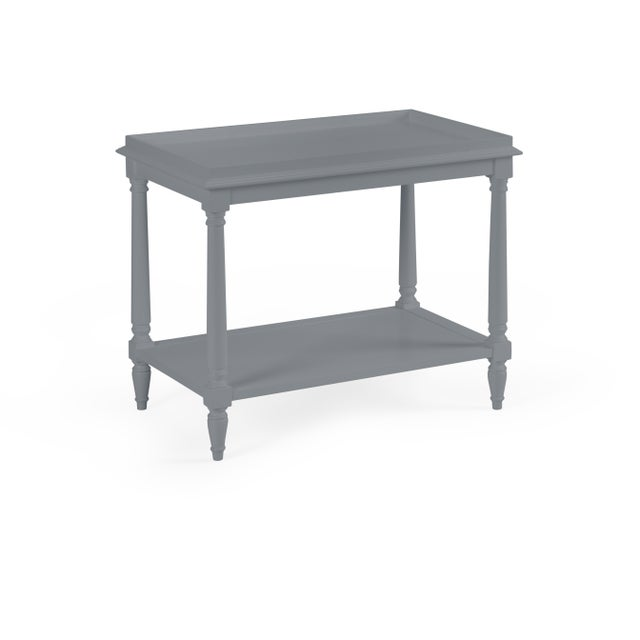 Transitional Casa Cosima Revere Side Table, Dior Gray For Sale - Image 3 of 3