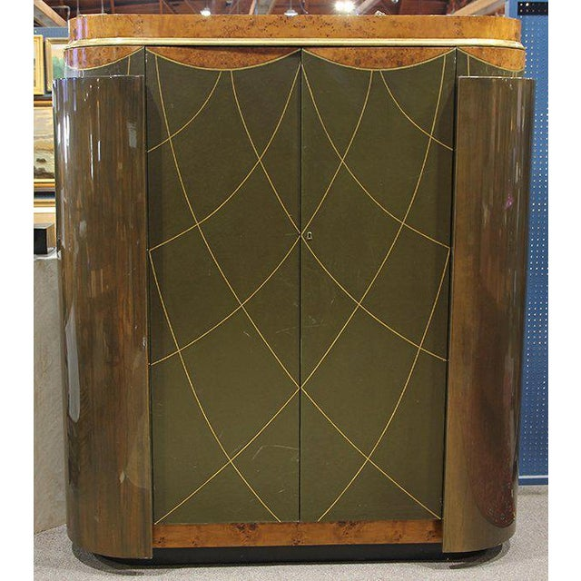 Green Leavitt Weaver Art Deco Wardrobes, 2 Available For Sale - Image 8 of 8