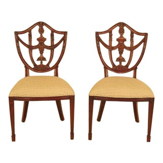 Maitland Smith Carved Mahogany Dining Room Chairs - A Pair For Sale