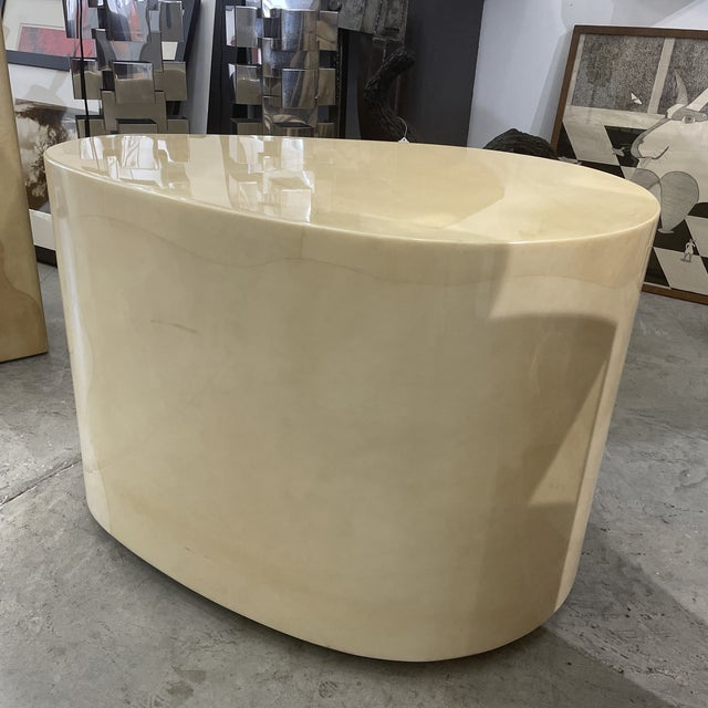 Mid-Century Modern 1970s Modern Goatskin Coffee Table For Sale - Image 3 of 10