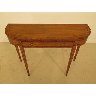 1990s Vintage Maitland-Smith Inlaid Satinwood Console Table Preview