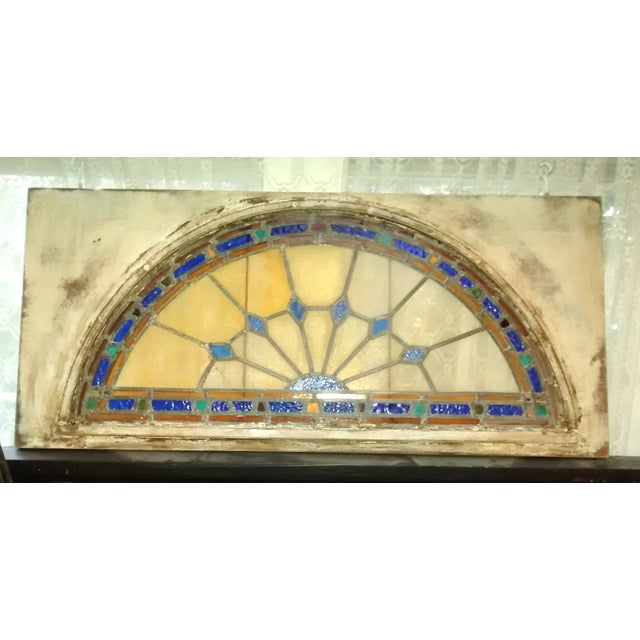 Stained Glass Victorian Window Transom - Image 2 of 6