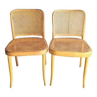 Thonet Bentwood & Caned Chairs by Stendig, a Pair For Sale