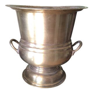 1940s Brass Champagne Bucket For Sale