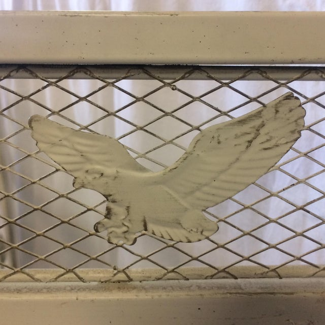 Vintage Shabby Chic Metal Hand Painted Fireplace Screen - Image 10 of 10