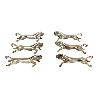 20th Century Figurative Horse Knife Rests - Set of 6 For Sale