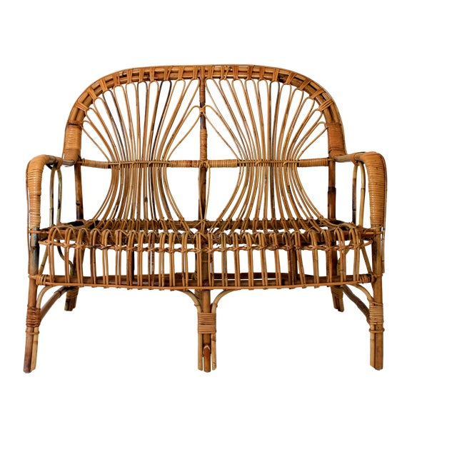 Franco Albini Style Loveseat or Settee For Sale