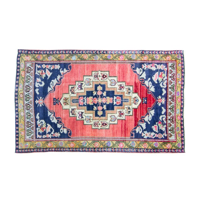 """House of Séance - 1940s Vintage Anatolian Taspinar Oushak Wool Pile Hand-Knotted Rug - 4'10"""" X 8' For Sale - Image 11 of 11"""