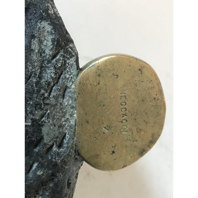 Stone and Brass Dish by Checacco For Sale - Image 9 of 10