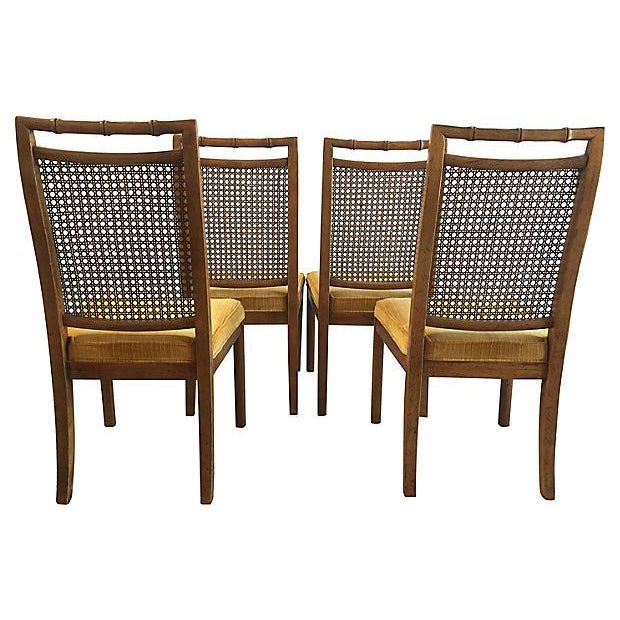 Heritage Faux Bamboo Dining Chairs - Set of 6 - Image 7 of 8