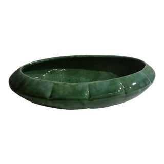Vintage Green Drip Glaze Planter For Sale