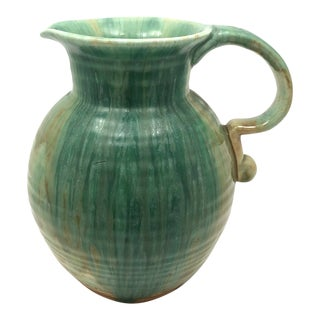 Royal Winton Grimwades, England Drippy Green Glazed Pitcher For Sale
