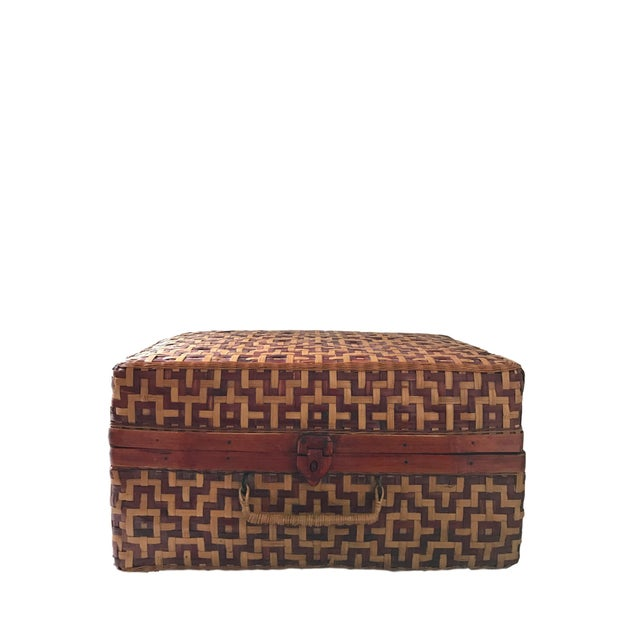 Geometric Weave Basket Trunk - Image 5 of 8