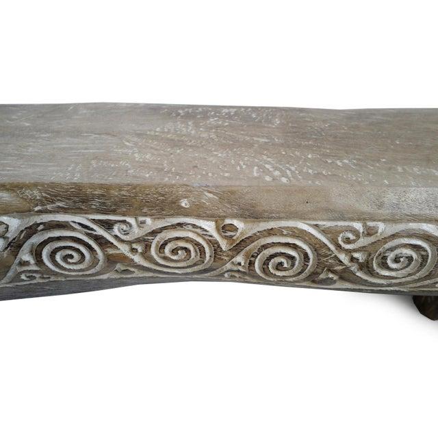 Asian Crocodile Log Bench For Sale - Image 3 of 4