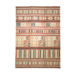 """Afghan Multi Colored Rug-10'2'x13'1"""" For Sale"""