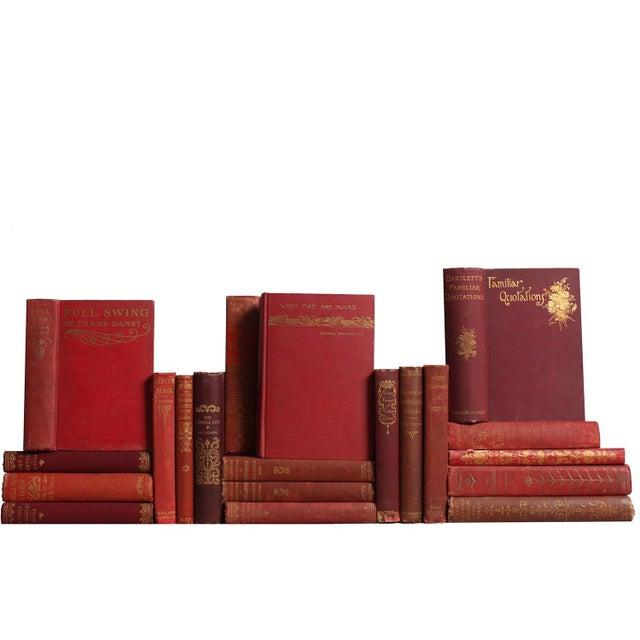 Antique Rust & Floral Book Set - Set of 20 - Image 1 of 2