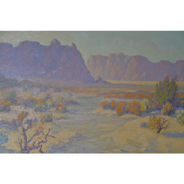 """Red Mesa, AZ"" Original Desert Landscape Painting c.1940s Fine desert painting by mystery artist. The painting is signed..."