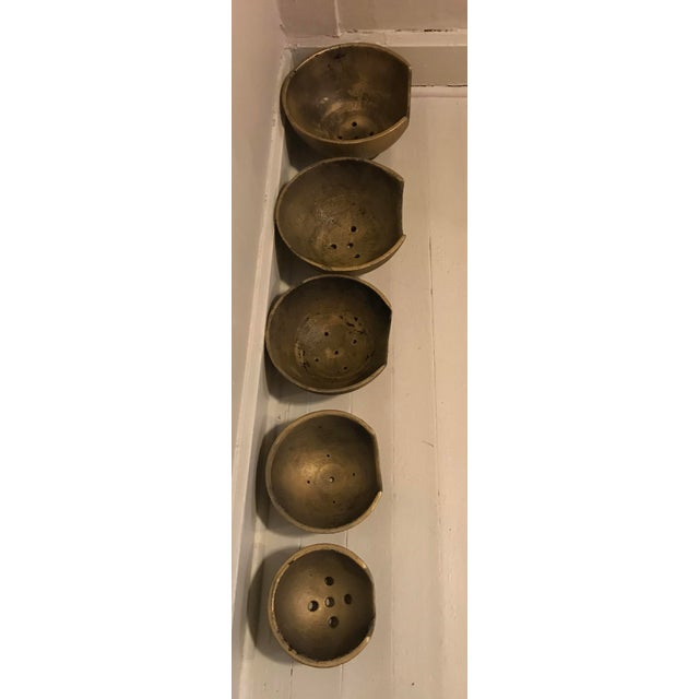 Industrial Blown Glass Cooling Trays - Set of 5 For Sale - Image 3 of 6